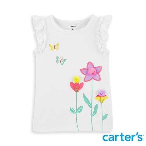 Carter's 台灣總代理 手繪花質感上衣
