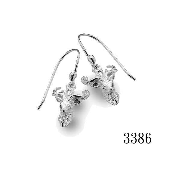 銀淬坊 PurCoeur 925純銀 動物系列一心之鹿靈敏長生鹿耳環1對