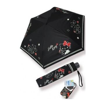Hello Kitty 抗UV折疊雨陽傘《黑.抱小熊》折傘.雨傘.雨具