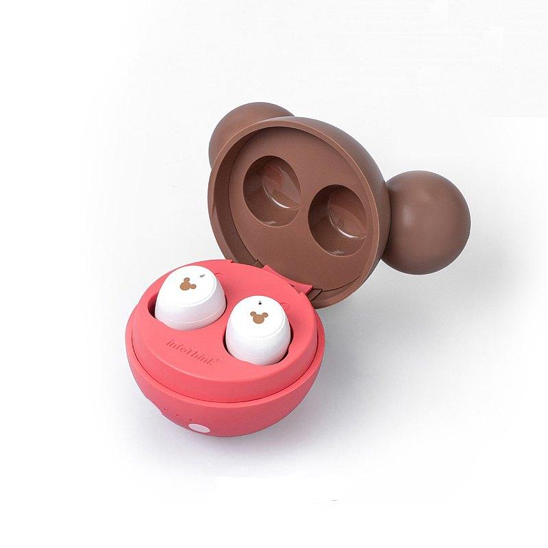 InfoThink 迪士尼系列真無線藍牙耳機-米奇(草莓巧克力造型限定)