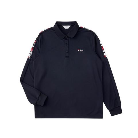 FILA 男POLO衫-黑色 1POU-5455-BK