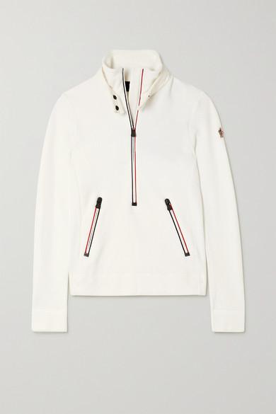 Moncler Grenoble - 软壳面料边饰抓绒上衣 - 白色 - small