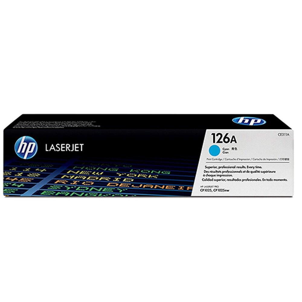 HP 藍色原廠碳粉匣 / 個 CE311A 126A