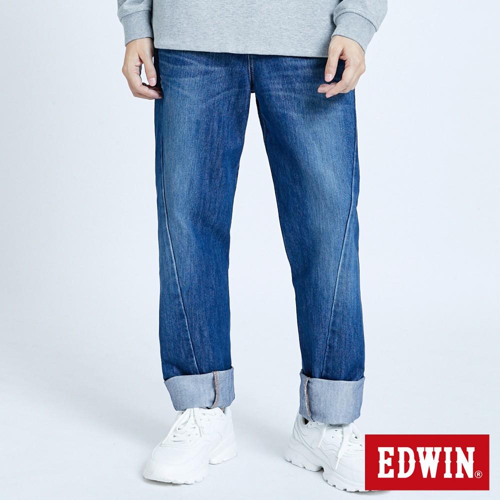 EDWIN 加大碼E-FUNCTION復刻直筒牛仔褲(中古藍)-男款