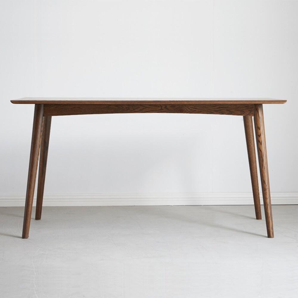 hoi! 原木日式明治紅橡木實木1.2m斜腳餐桌 s7010