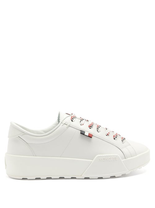 Moncler - Promyx Logo-patch Leather Trainers - Mens - White