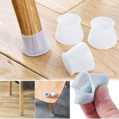 矽膠桌椅腳靜音防刮痕保護套4組裝(共16入)