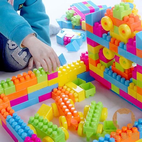 積木桌拼圖拼裝玩具寶寶益智力開發動腦多功能【宅貓醬】