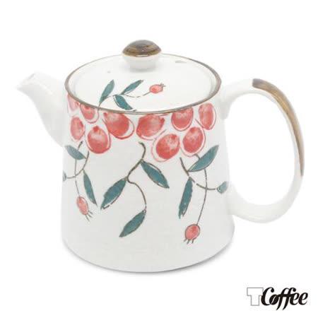 TCoffee MILA-日式手繪咖啡壺 紅果花 500ml