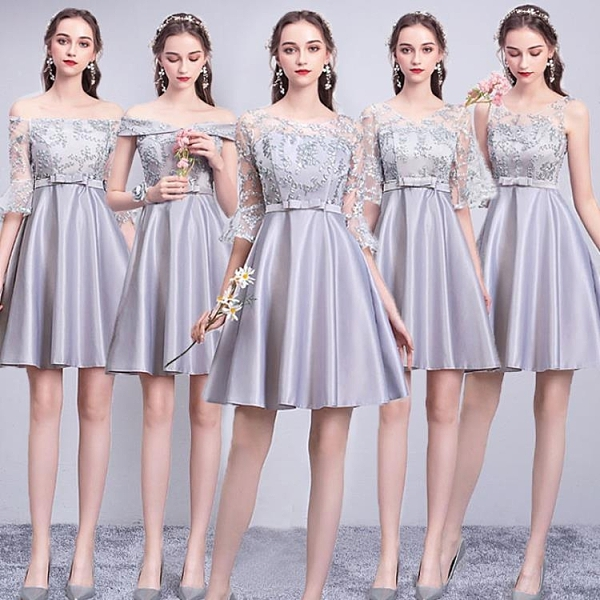 女新款春季伴娘服姐妹團顯瘦短款結婚宴會畢業小禮服
