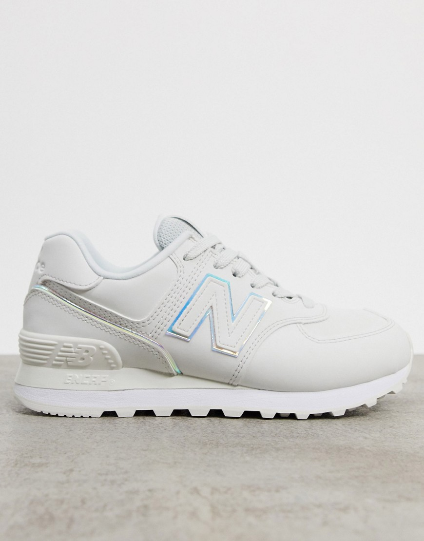 New Balance 574 Fashion Metallic trainers in white