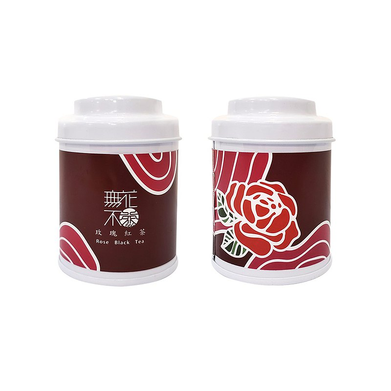 【無花不茶】花入紅茶-玫瑰紅茶—3g三角茶包*3入精緻罐裝
