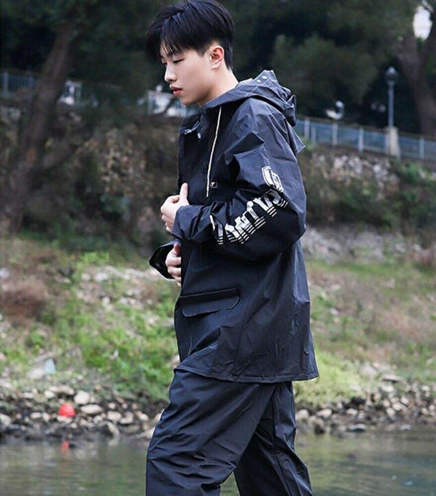 雨衣 雨褲套裝騎士防暴雨加厚騎行全身防水一整套塑料分體外套雨衣