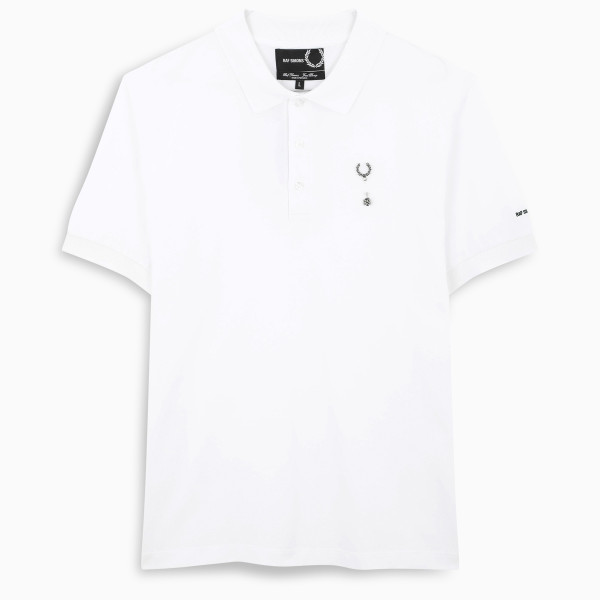 Fred Perry Raf Simons white polo shirt