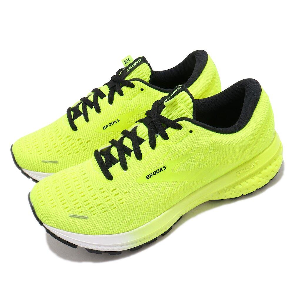 BROOKS 慢跑鞋 Ghost 13 運動 女鞋 路跑 緩震 DNA科技 透氣 健身 球鞋 黃 黑 [1203381B774]