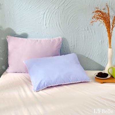 義大利La Belle 日本防蹣抗菌可水洗馬卡龍兒童枕 夢幻藍x甜心紫