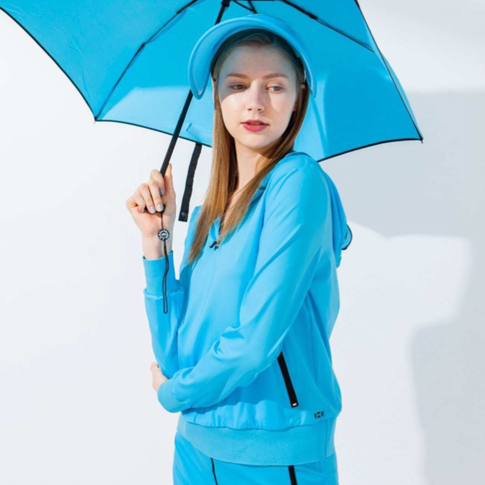 【HOII后益】雙口袋機能連帽T-女款(三色:黃/紅/藍)
