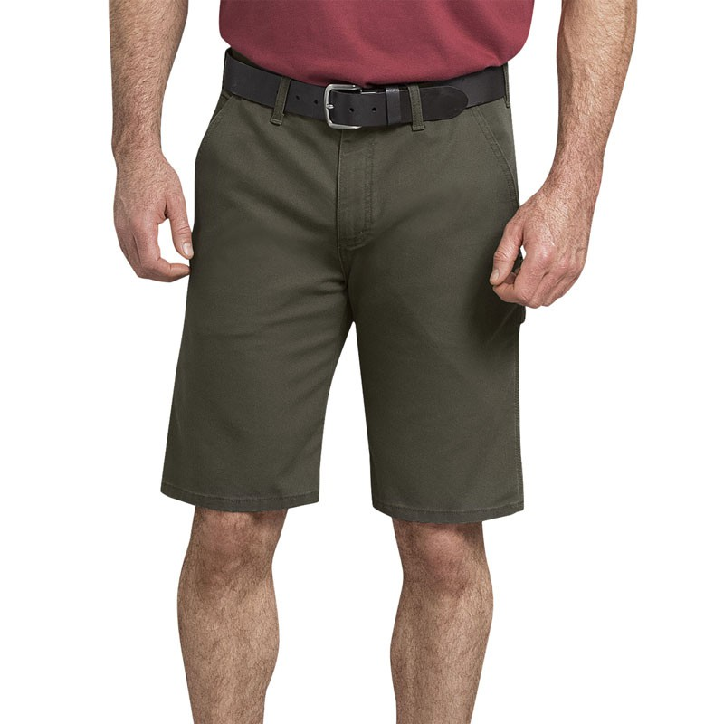 "【DICKIES】DX802 11"" Duck Carpenter Shorts FLEX 工作短褲 (MS 軍綠色)"