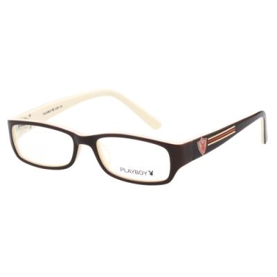 PLAYBOY-時尚光學眼鏡-咖啡色-PB85309