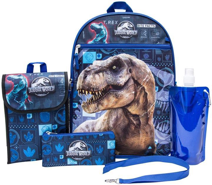 【美國代購】侏羅紀世界背包組合套裝 背包和午餐套件 兒童背包 黑色