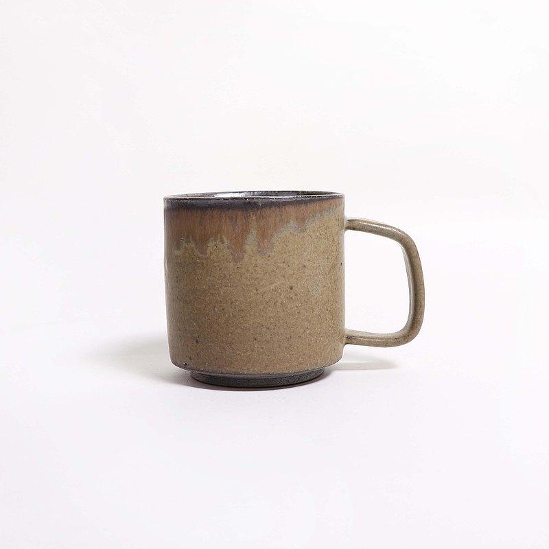 明芽窯 l 柴燒灰釉雙色馬克杯咖啡杯