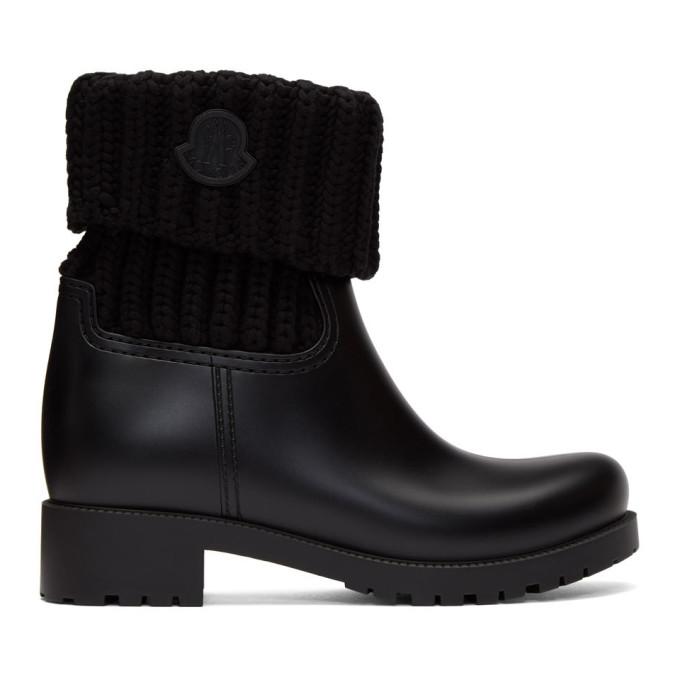 Moncler 黑色 Ginette 针织踝靴