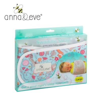 美國 Anna&Eve 嬰兒舒眠包巾 / 防驚跳早產兒肚兜-藍色動物俱樂部