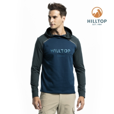 【hilltop山頂鳥】男款ZISOFIT保暖吸濕快乾抗菌刷毛上衣PH51XMI7ECEA藍