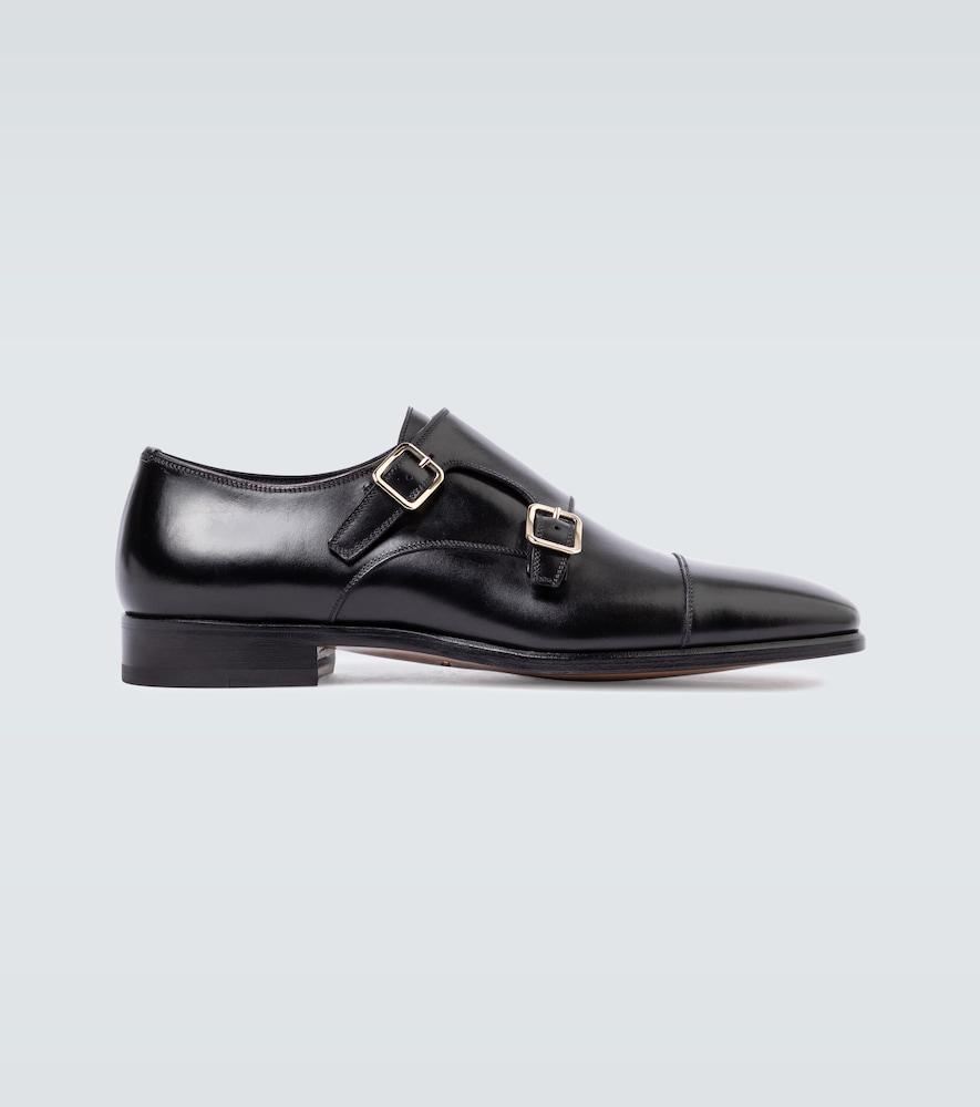 Elkan double monk strap shoes
