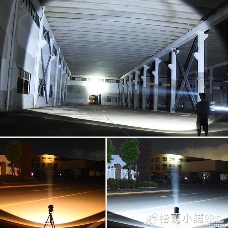 LED頭燈強光充電超亮感應疝氣頭戴式戶外手電筒藍黃光夜釣魚礦燈 中秋節 秋冬新品特惠