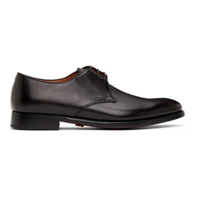 Ralph Lauren Purple Label 黑色 Dalvin 系带德比鞋