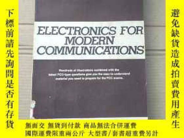 二手書博民逛書店electronics罕見for modern communications(P1957)Y173412