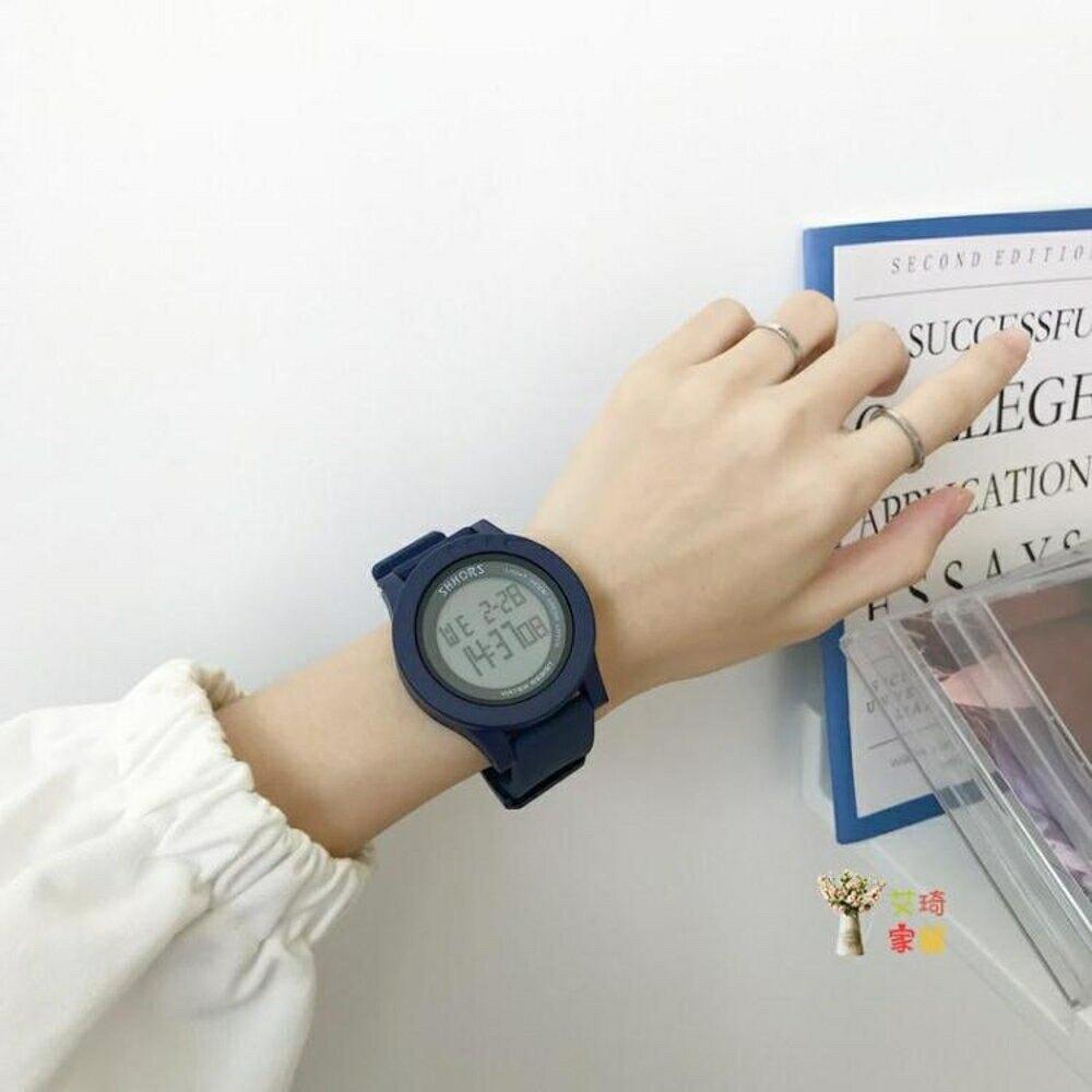 電子錶 女ins風酷 顯白學生原宿男生少女防水多功能電子錶情侶款潮流【99購物節】