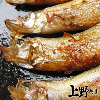 【上野物產】炙燒烈焰 炭火燒烤用柳葉魚 (400g土10%/包)x8包