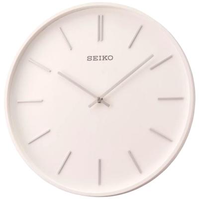 SEIKO 日本精工 木質外殼 立體時標 掛鐘 時鐘(QXA765W)33.2cm