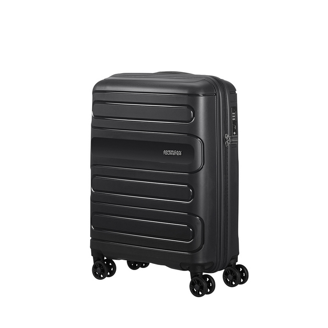 AT美國旅行者 20吋 Sunside超耐磨PP防刮硬殼TSA登機箱(黑)