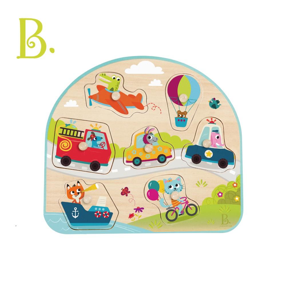 B.Toys 尋找打卡點-專心駕駛 木頭玩具 拼圖 小朋友