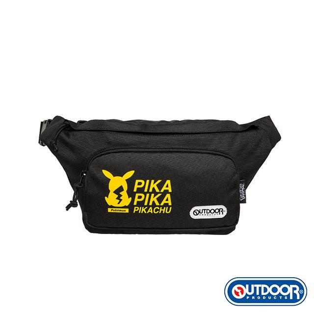 【OUTDOOR】Pokemon聯名款潮黑皮卡丘腰包-大-黑色 ODGO20B05BK