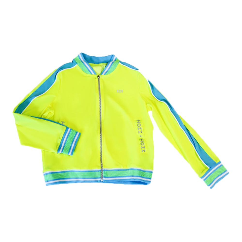 【HOII后益】HOII標語拼色拉鏈外套-兒童-黃