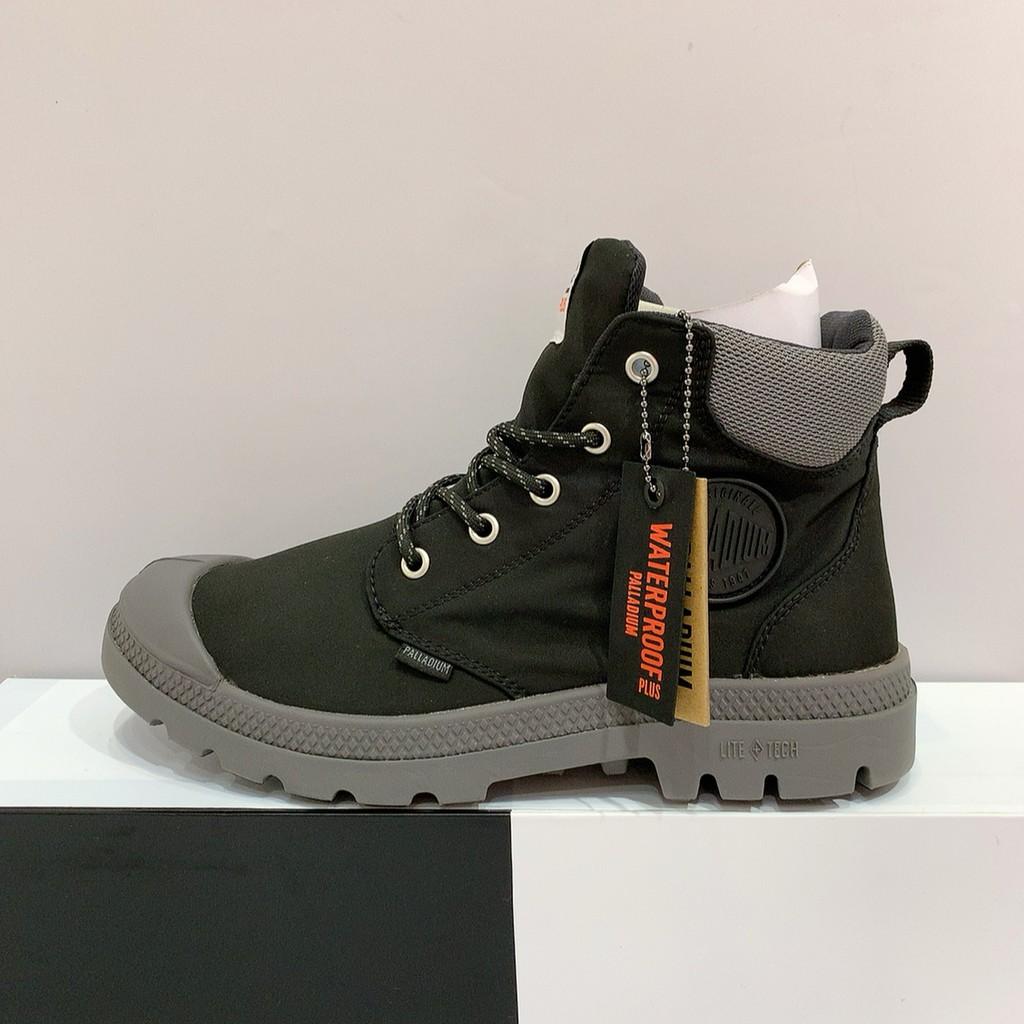 PALLADIUM PAMPA LITE+ CUFF WP 男女款 黑灰色 防水 輕量 雨靴 休閒靴 76259-008