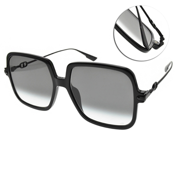 DIOR 太陽眼鏡 時髦名媛方框款(黑-漸層灰鏡片) #LINK1 8079O