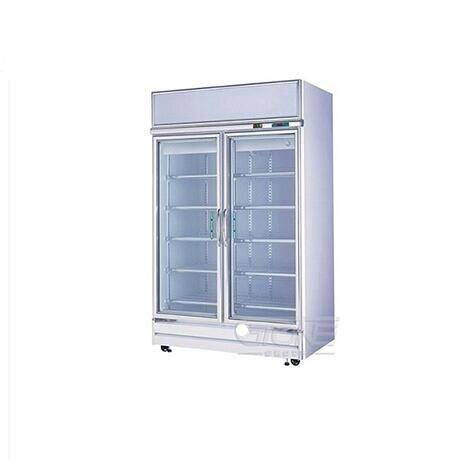 現貨 960L雙門立式商用冷藏便利店超市展示櫃 飲料櫃 冷藏櫃 RS-S2003S 時尚彩紅屋 樂樂百貨