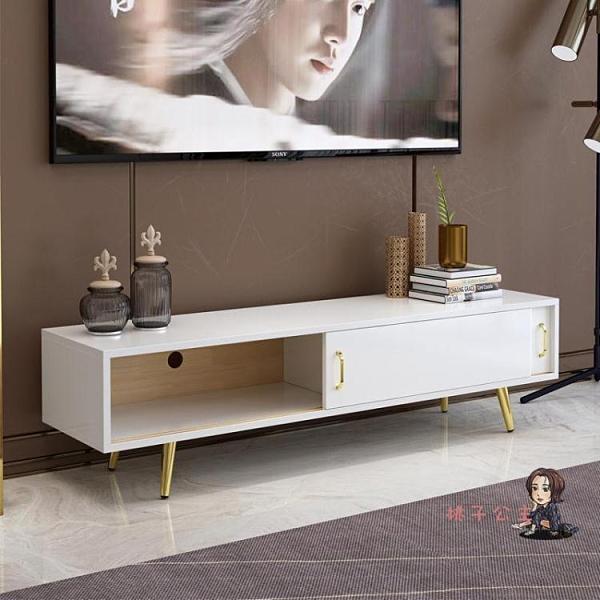 電視櫃 北歐實木輕奢現代簡約茶几組合客廳套裝小戶型地櫃T