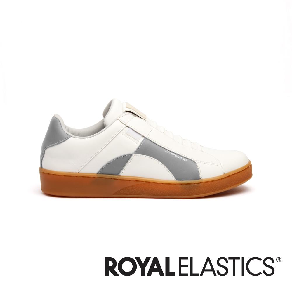 Royal Elastics Icon Dots 白灰真皮運動休閒鞋 (男) 02983-008