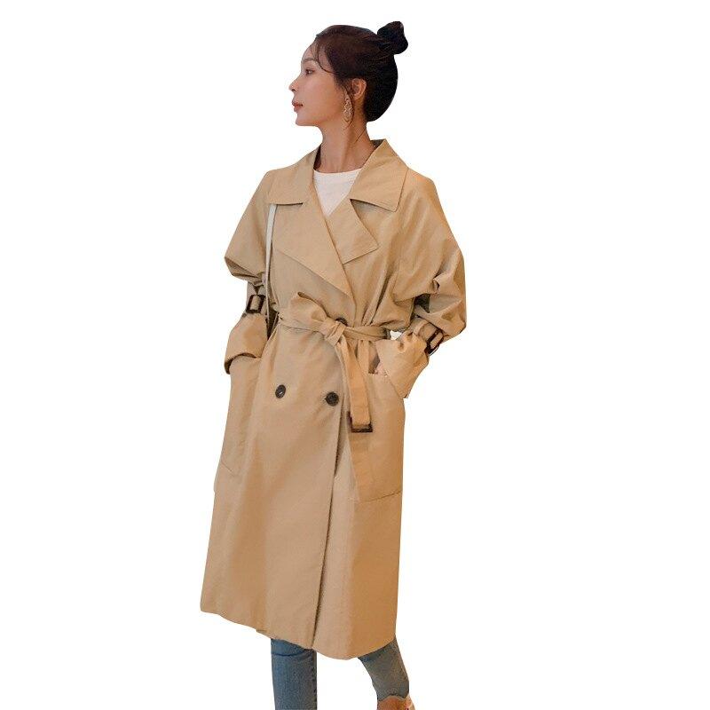 風衣大衣長款外套-經典修身腰帶收腰女外套73yt25【獨家進口】【米蘭精品】