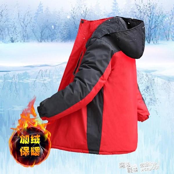冬季沖鋒衣男加絨加厚潮棉衣戶外冰庫服抗寒保暖冷庫服抓絨防寒衣 夏季新品