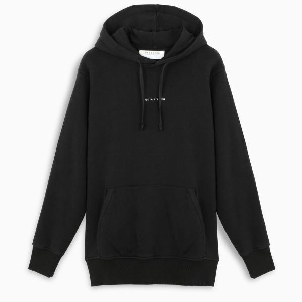 1017 A L Y X 9SM Black logoed hoodie