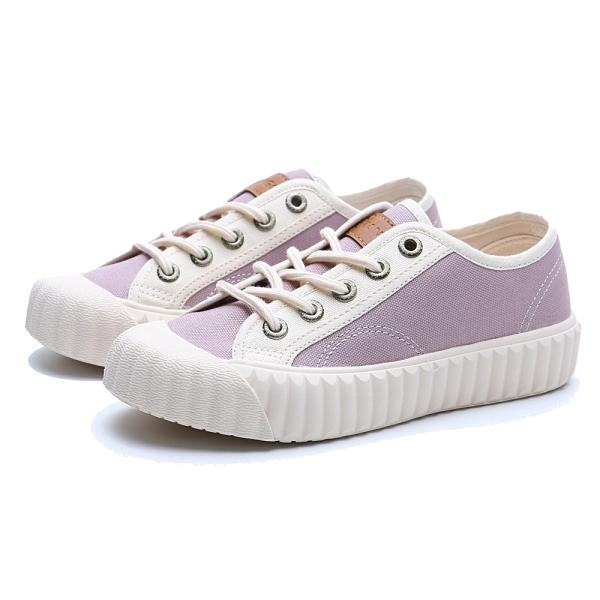 KANGOL 帆布鞋 莫蘭迪紫 白 撞色 餅乾鞋 韓版 休閒 女(布魯克林) 6052200392