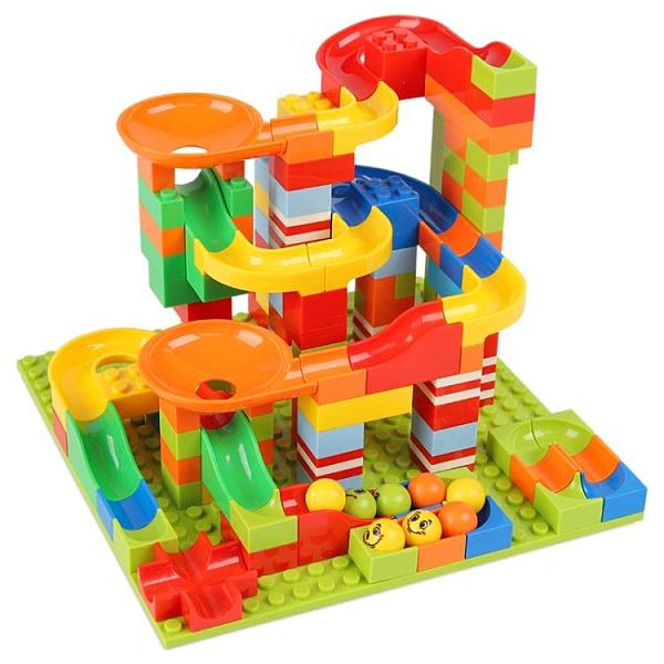 兒童拼裝滑道拼插玩具益智力男女孩【福喜行】