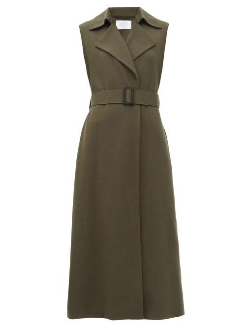 Harris Wharf London - Sleeveless Felted-wool Coat - Womens - Khaki